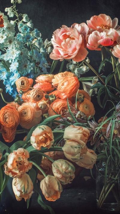 تحميل خلفيات ورد طبيعي لون ابيض و اصفر وبرتقالي